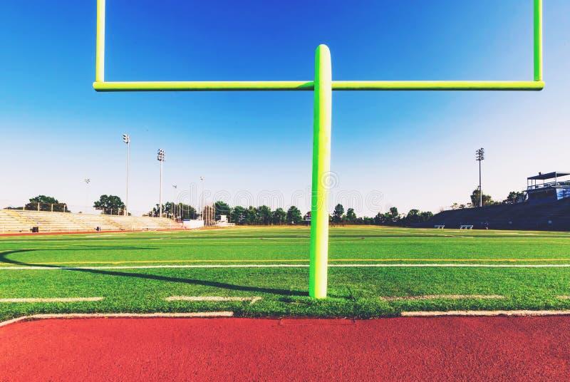 amerikansk fotbollmålstolpe royaltyfri foto