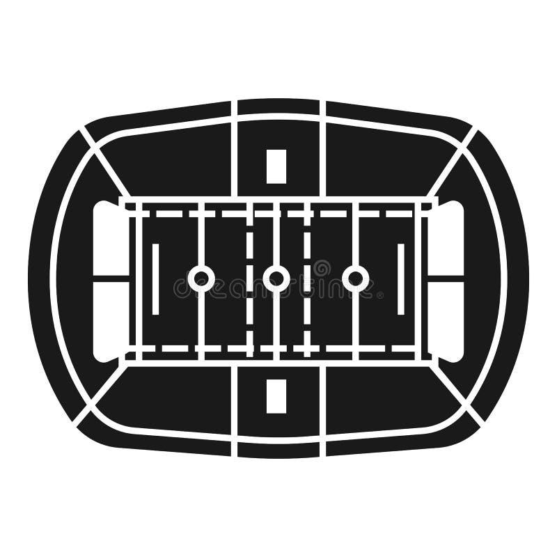 Amerikansk fotbollsarenasymbol, enkel stil stock illustrationer