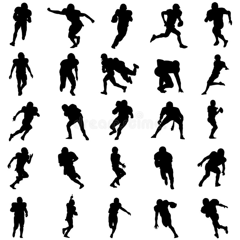 amerikansk fotbollset stock illustrationer