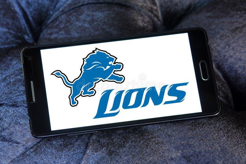 Amerikansk fotbollslaglogo för Detroit Lions fotografering för bildbyråer