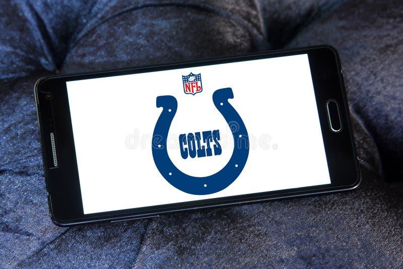 Amerikansk fotbollslaglogo för Indianapolis Colts arkivbild