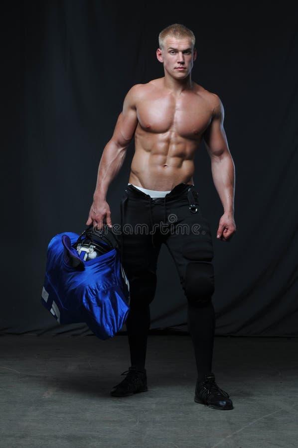 amerikansk fotbollsspelare fotografering för bildbyråer