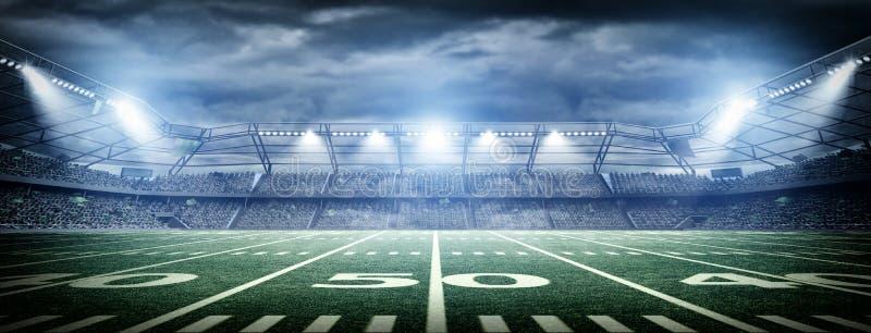 Amerikansk fotbollstadion royaltyfri illustrationer