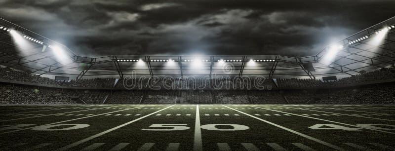 Amerikansk fotbollstadion fotografering för bildbyråer