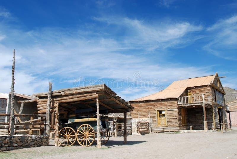 amerikansk gammal landskaptown royaltyfri bild