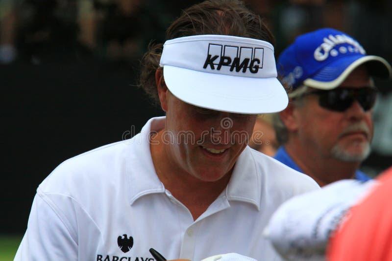Amerikansk golfare Phil Mickelson arkivfoto