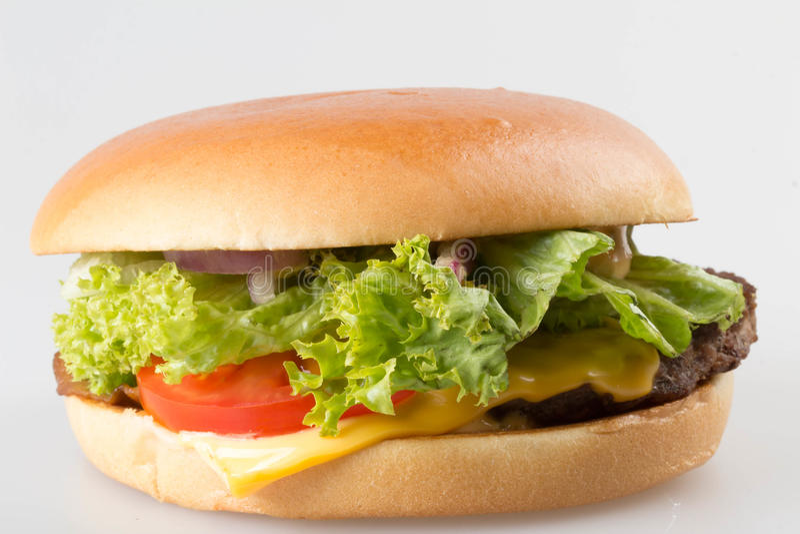 amerikansk hamburgare arkivbild