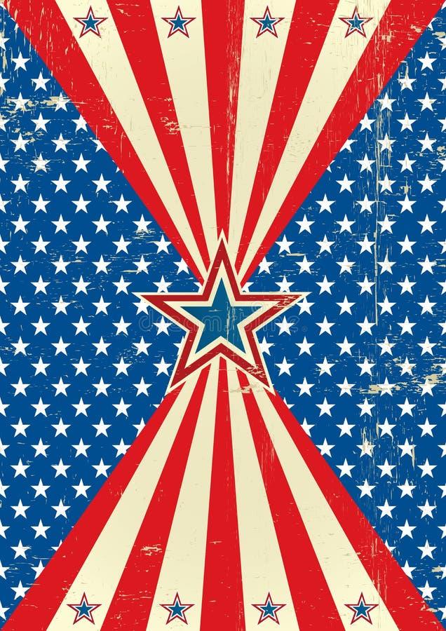 Amerikansk historisk affisch stock illustrationer