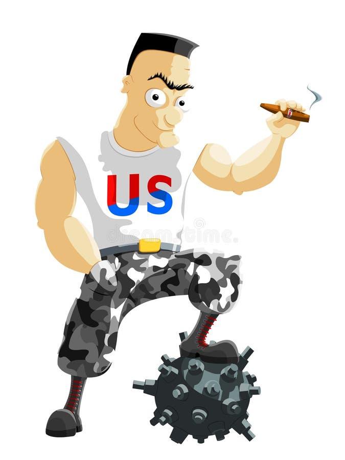 amerikansk hjälte stock illustrationer