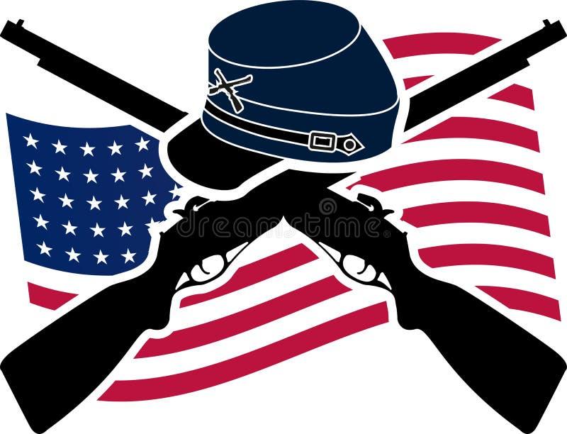 Amerikansk inbördeskrig stock illustrationer