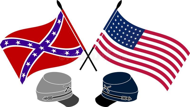 Amerikansk inbördeskrig royaltyfri illustrationer