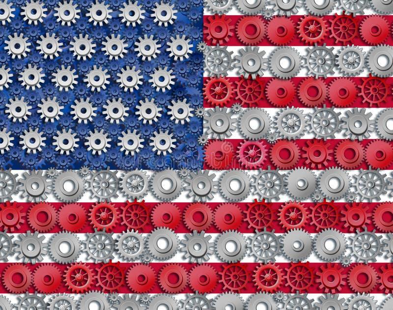 amerikansk industri royaltyfri illustrationer