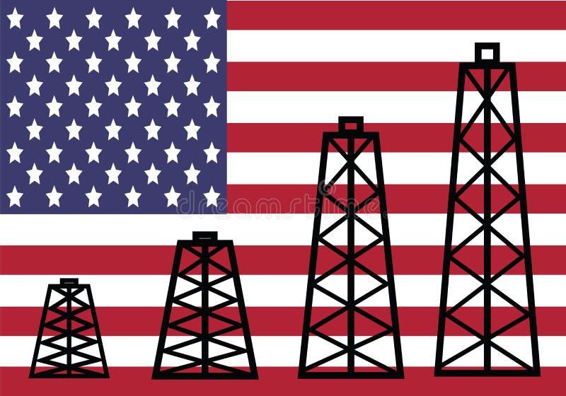 amerikansk industriolja stock illustrationer
