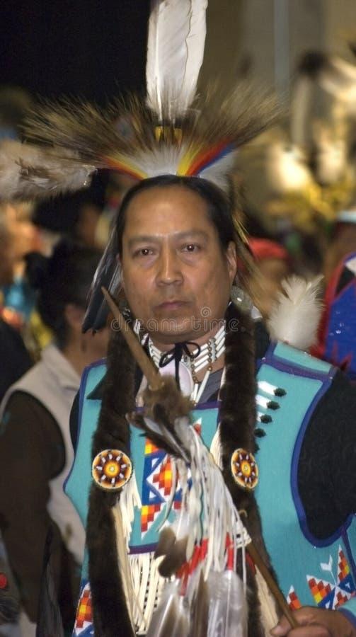 amerikansk infödd stående royaltyfri foto