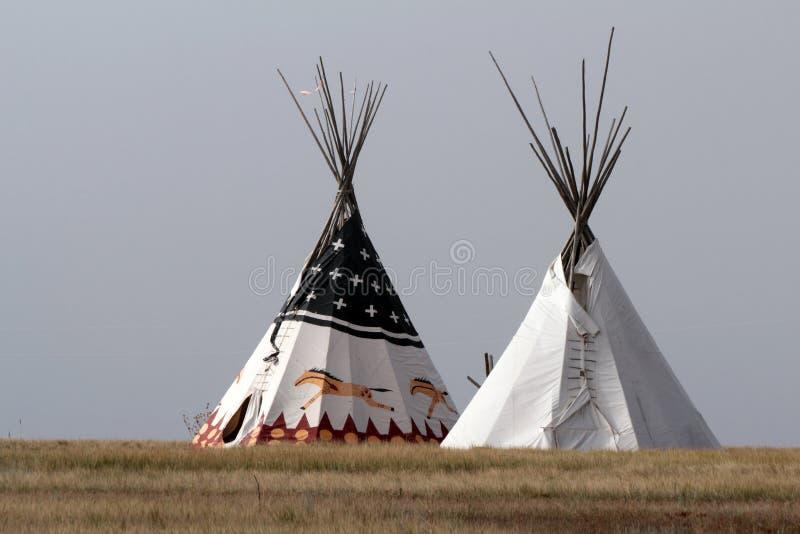 amerikansk infödd tipi arkivbild