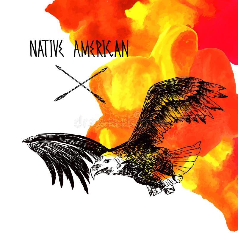 amerikansk inföding royaltyfri illustrationer