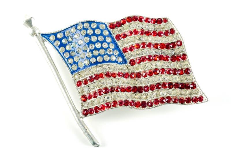 amerikansk isolerad banawhite för clipping flagga arkivbilder