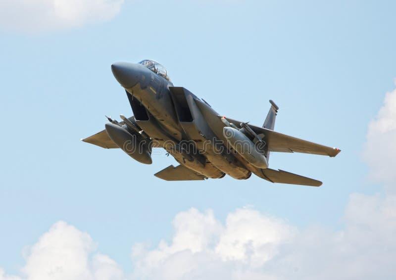 Amerikansk jaktflygplan F15 royaltyfri bild