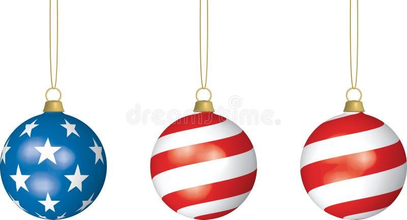 amerikansk jul stock illustrationer