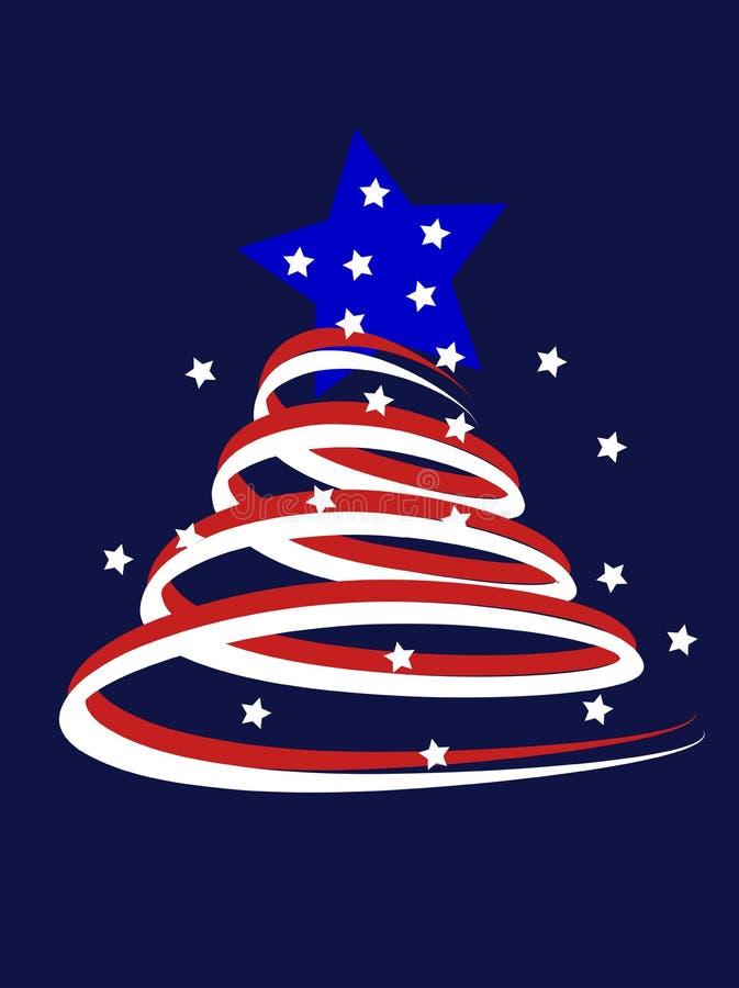 amerikansk jultree stock illustrationer
