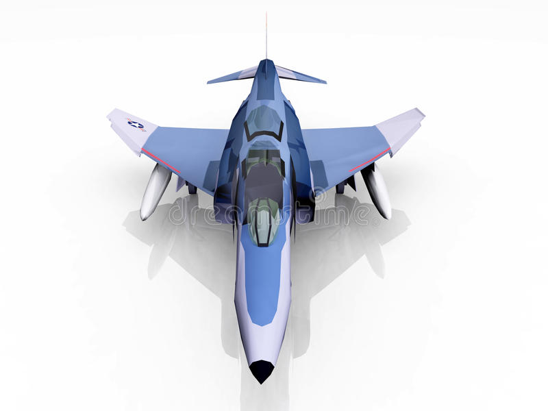 Amerikansk kämpebombplan stock illustrationer