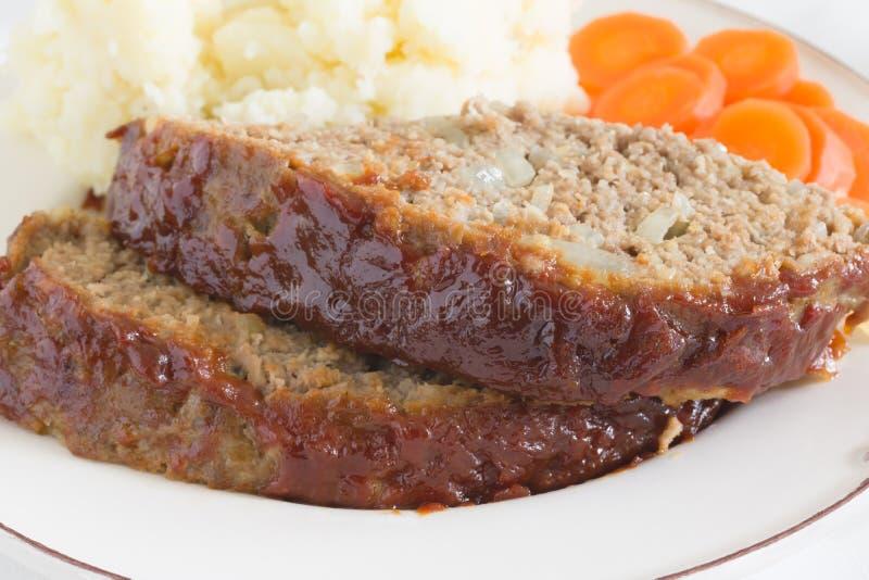 Amerikansk köttfärslimpa royaltyfri fotografi