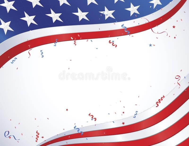 amerikansk konfettiflagga royaltyfri illustrationer