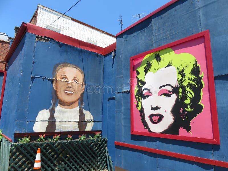 Amerikansk konst för stadsmatställevägg i Washington DC royaltyfri bild