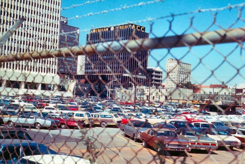 Amerikansk krediteringsbyggnad, Charlotte, North Carolina arkivfoto
