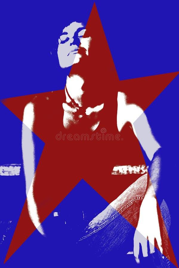 amerikansk kvinna stock illustrationer
