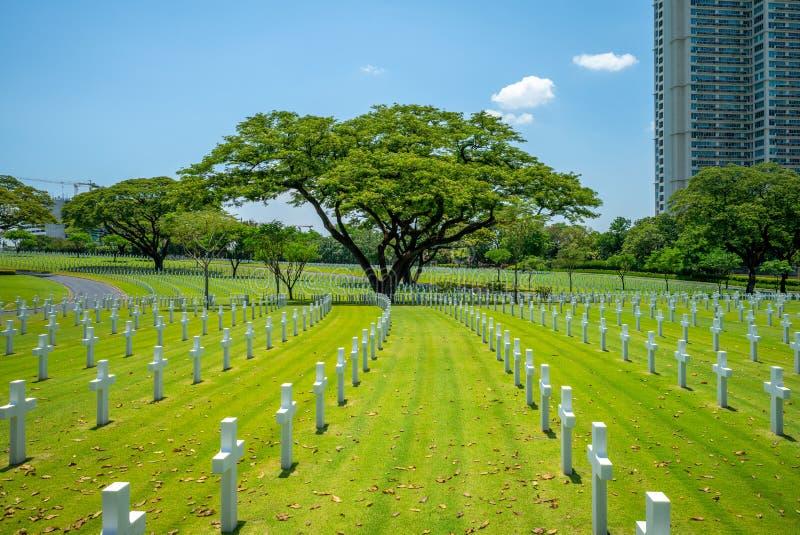 Amerikansk kyrkogård en minnesmärke, Manila, Filippinerna arkivbilder