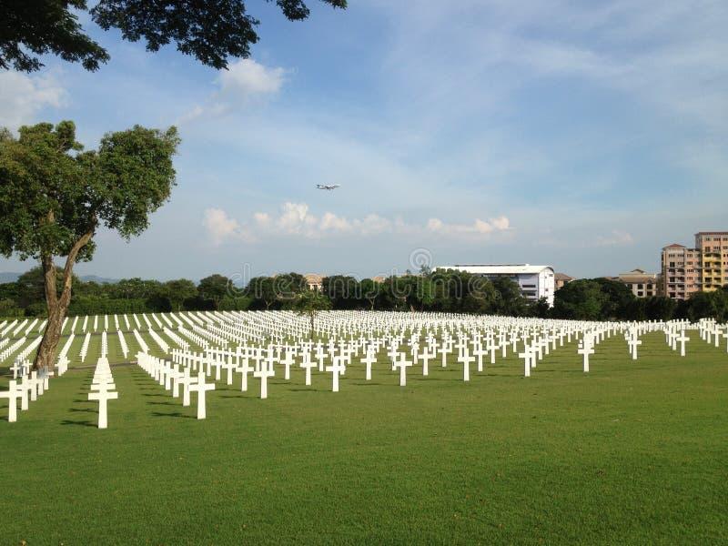 Amerikansk kyrkogård, Manila, Filippinerna royaltyfri foto