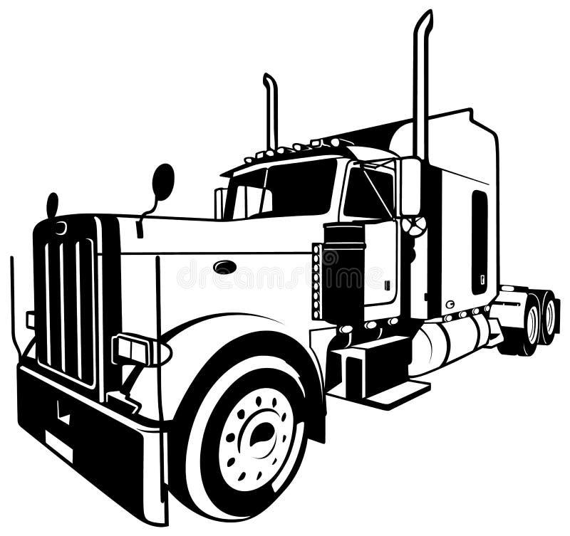 amerikansk lastbil vektor illustrationer