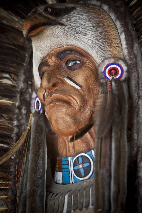 amerikansk maskeringsinföding royaltyfri bild