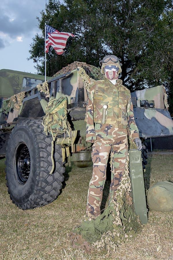 amerikansk militär royaltyfria bilder