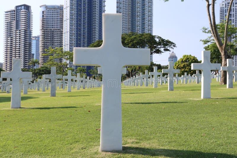 Amerikansk minnes- kyrkogård i Manila, Filippinerna Det har laren arkivfoton