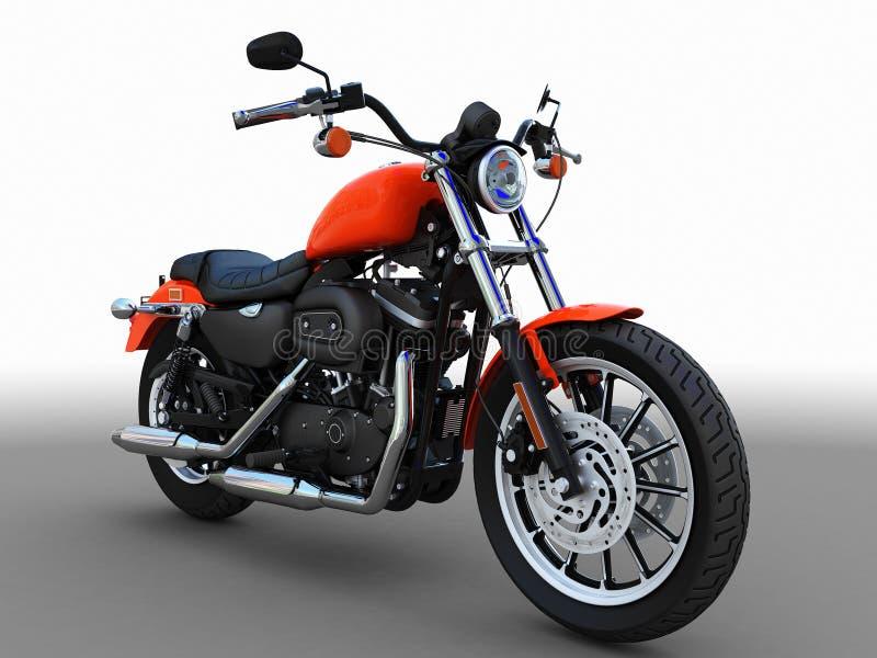 amerikansk motorbike royaltyfri illustrationer