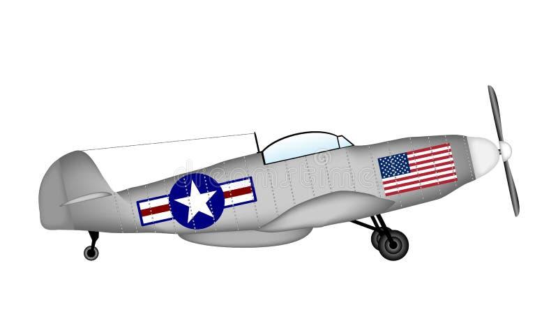 Amerikansk mustang för kämpe P-51 royaltyfri illustrationer