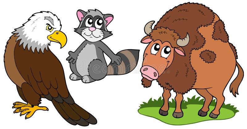 amerikansk norr djursamling stock illustrationer