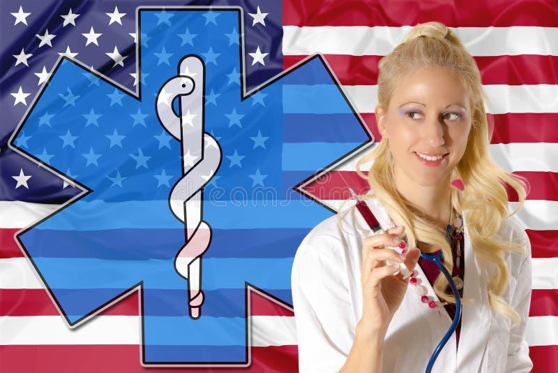 amerikansk omsorgshälsa royaltyfri illustrationer