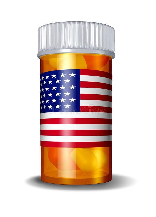 amerikansk omsorgshälsomedicin vektor illustrationer