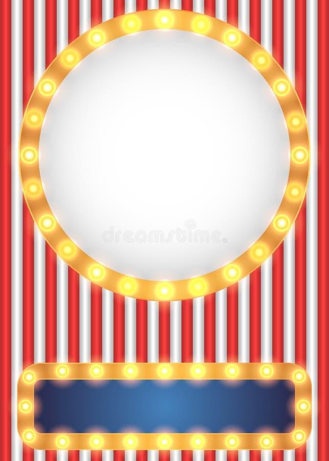 Amerikansk patriotisk cirkusstilbakgrund vektor illustrationer