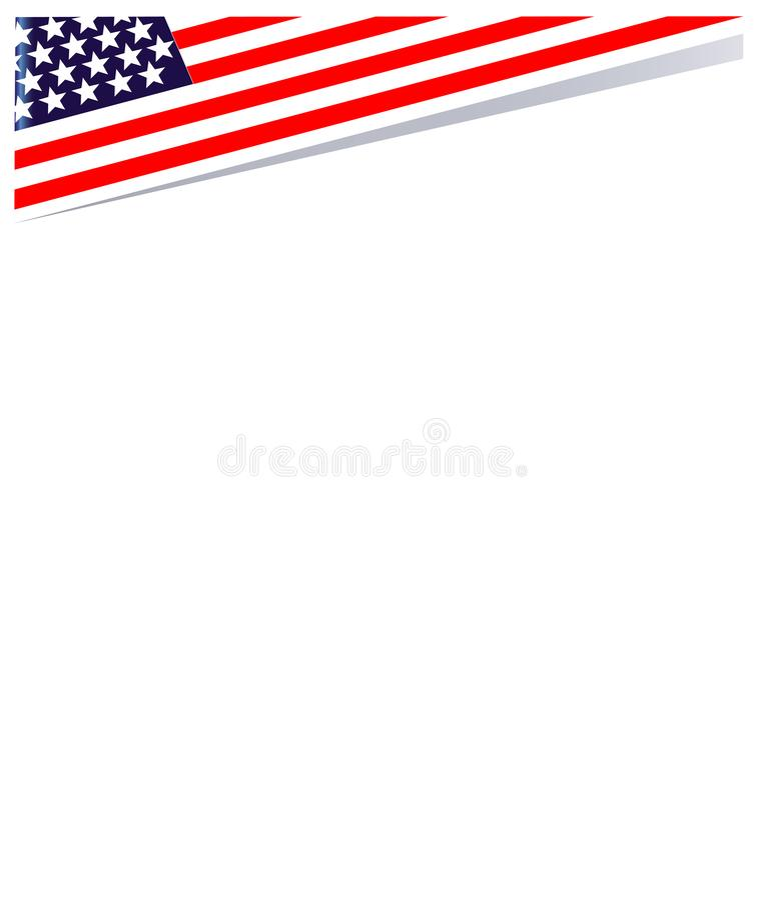 Amerikansk patriotisk hörngräns med USA flaggasymboler vektor illustrationer