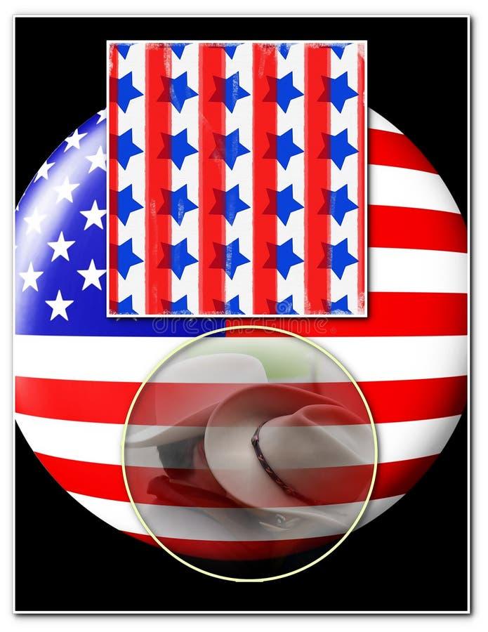 Amerikansk patriotismmall royaltyfri illustrationer