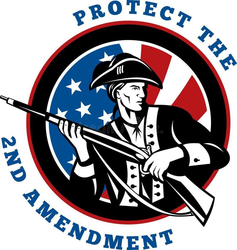 amerikansk revolutionär soldat stock illustrationer