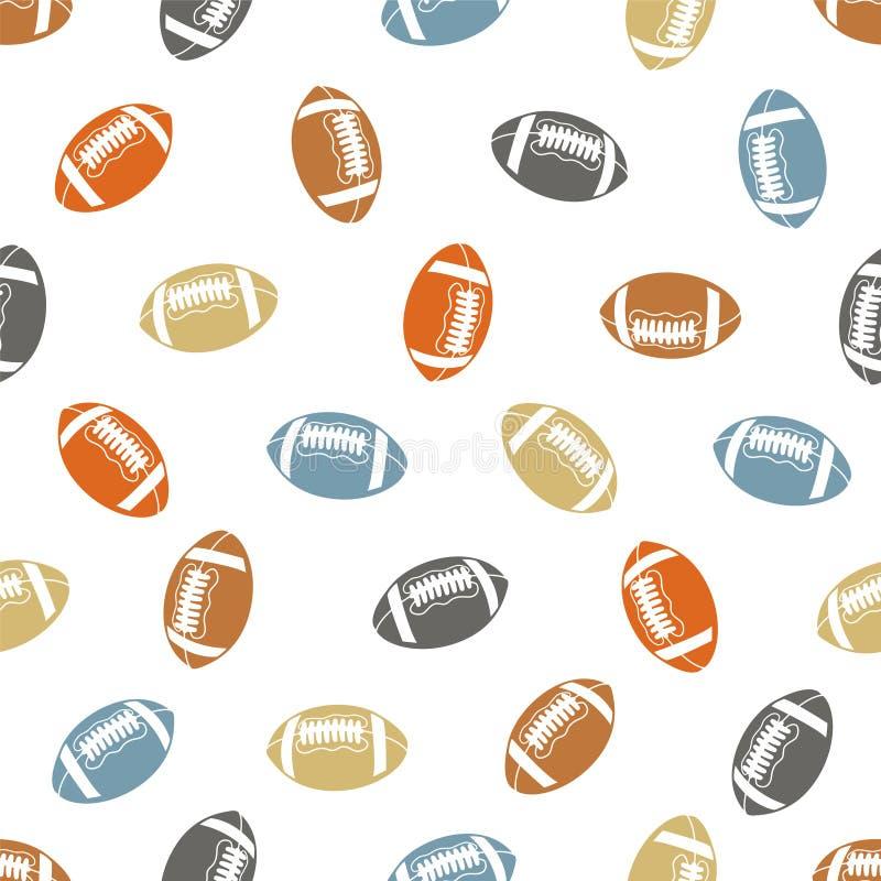Amerikansk sömlös modell för fotboll (rugby) stock illustrationer