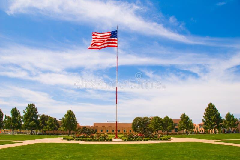 amerikansk san för pol för diegflaggafrihet station fotografering för bildbyråer