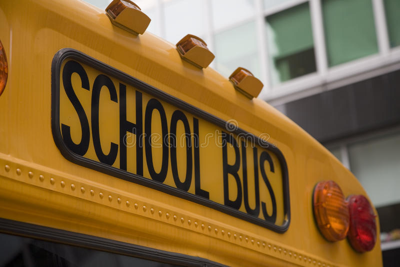 amerikansk schoolbus royaltyfri foto