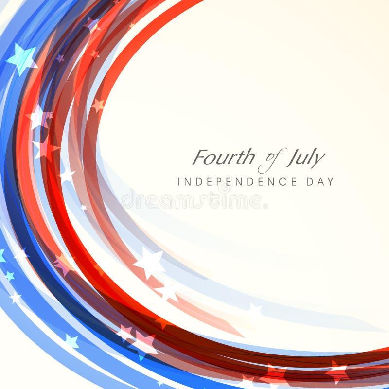 Amerikansk självständighetsdagenberöm stock illustrationer