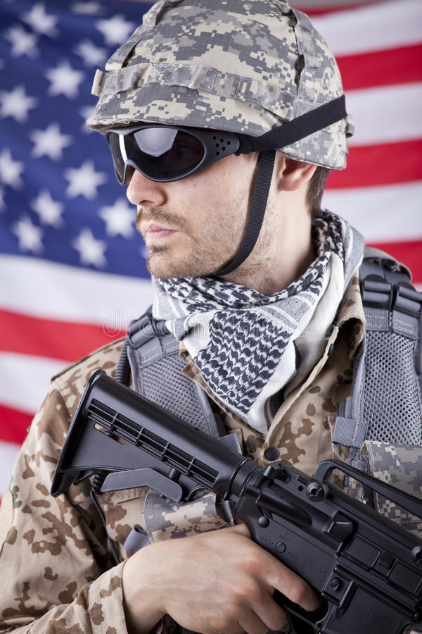 amerikansk soldat royaltyfri foto